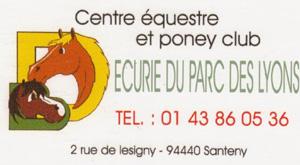 Concours santeny logo Concours à Santeny dans les Ecuries du Parc des Lyons