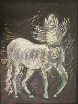 Tornade mane dessin cheval Une expo de peinture de Mané