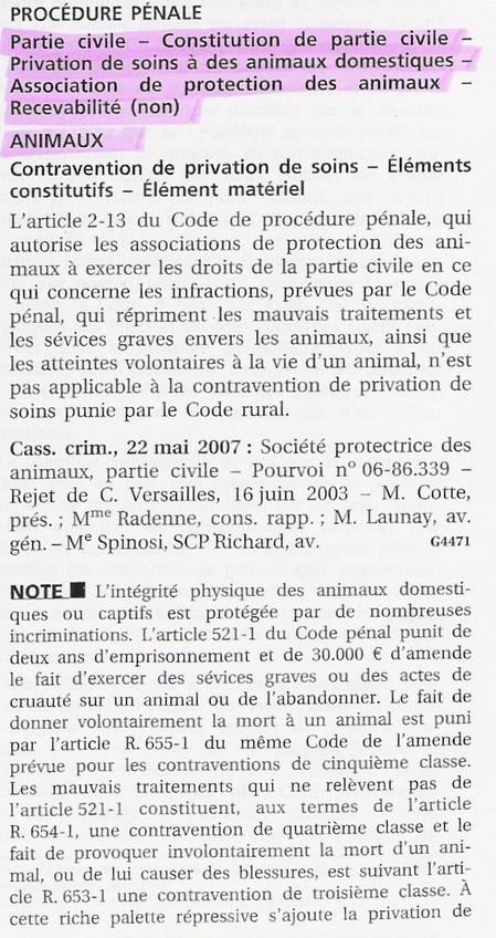 jurisprudence maltraitances animaux 1 Que dit la loi en France ?