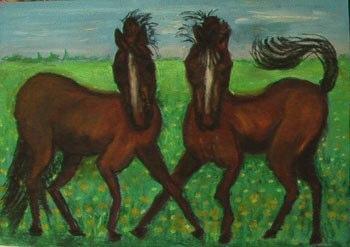 rencontre mane dessin cheval Une expo de peinture de Mané